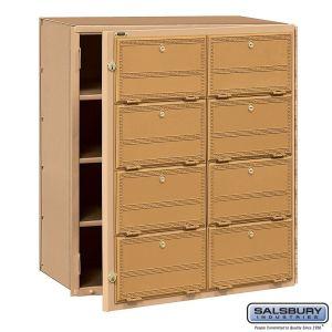 Salsbury 2108FL Americana Mailbox Front Loading 8 Tenant Doors