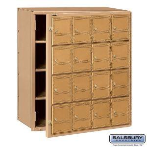 Salsbury 2116FL Front Loading Americana Mailbox 16 Tenant Doors