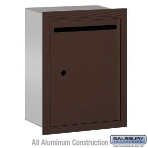 commercial letter box recessed mount