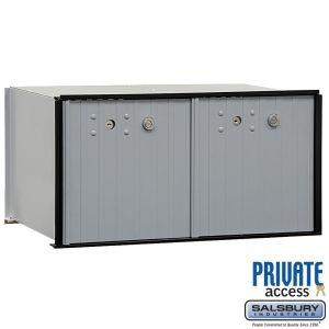 Salsbury 2272P Aluminum Parcel Locker 2 Tenant Doors
