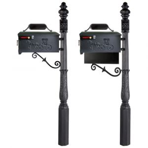 imperial cast aluminum residential mailbox with post 227r