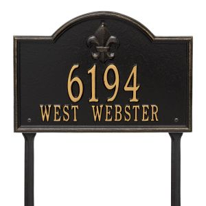 Whitehall Bayou Vista - Standard Lawn - Two Line Address Plaque