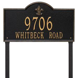 Whitehall Bayou Vista - Estate Lawn - Two Line Address Plaque
