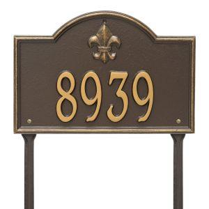 Whitehall Bayou Vista - Standard Lawn - One Line Address Plaque
