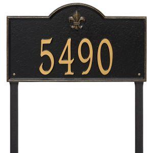 Whitehall Bayou Vista - Estate Lawn - One Line Address Plaque