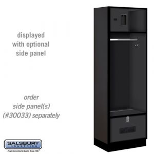 Open Access Designer Wood Locker - 18 Inches Deep