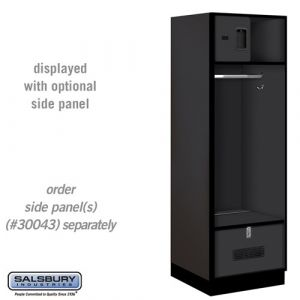 Open Access Designer Wood Locker - 24 Inches Deep