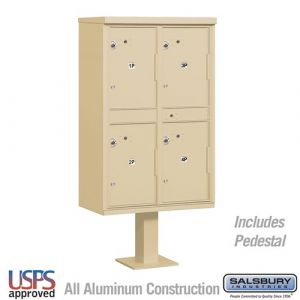Salsbury Outdoor Parcel Locker with 4 Compartments with USPS Access - Type II