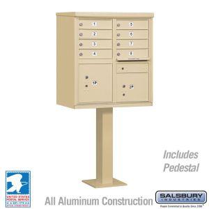 white 8 door usps cluster mailbox