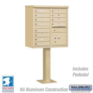 white 12 door usps cluster mailbox
