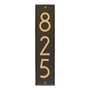 Delaware Modern Personalized Vertical Wall Plaque