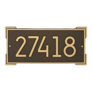 Roanoke Modern Personalized Wall Plaque