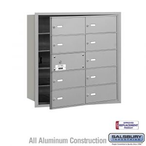 Salsbury 3610FU 4B Mailboxes 9 Tenant Doors Front Loading - USPS Access