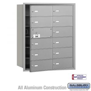 Salsbury 3612FU 4B Mailboxes 11 Tenant Doors Front Loading - USPS Access