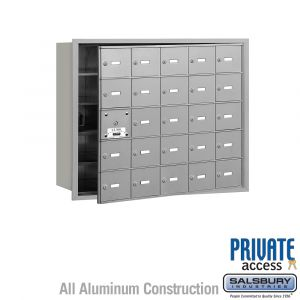 Salsbury 3625FP 4B Mailboxes 24 Tenant Doors Front Loading - Private Access