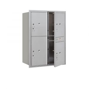 Salsbury 3711D-4PFU 4C Mailboxes 4 Parcel Lockers Front Loading