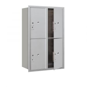 Salsbury 3712D-4PFU 4C Mailboxes 4 Parcel Lockers Front Loading
