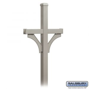 Salsbury 4372D Deluxe In-Ground Post For Designer Roadside Mailbox
