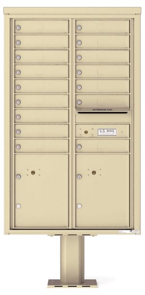 private commercial pedestal mailbox 16 tenants
