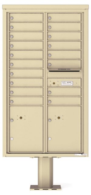 private commercial pedestal mailbox 18 tenants