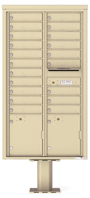 private commercial pedestal mailbox 20 tenants