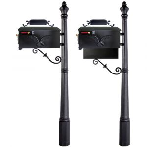 imperial cast aluminum residential mailbox with post 514k