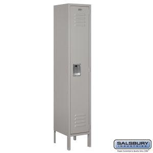Standard Metal Locker - Single Tier - 1 Wide - 5 Feet High - 12 Inches Deep - Choose Color