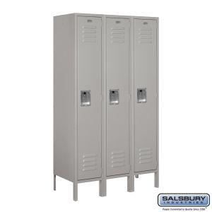 Standard Metal Locker - Single Tier - 3 Wide - 5 Feet High - 15 Inches Deep - Choose Color