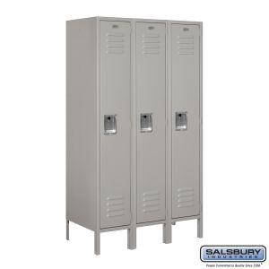 Standard Metal Locker - Single Tier - 3 Wide - 5 Feet High - 18 Inches Deep - Choose Color