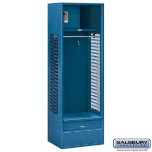 Open Access Standard Metal Locker - 6 Feet High - 18 Inches Deep