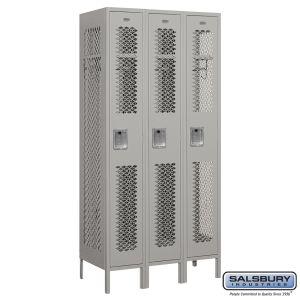 Vented Metal Locker - Single Tier - 3 Wide - 6 Feet High - 18 Inches Deep - Choose Color