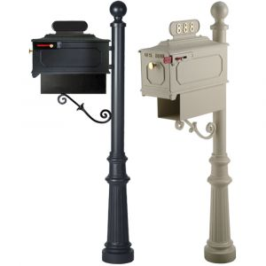 imperial cast aluminum residential mailbox with post 888k-6