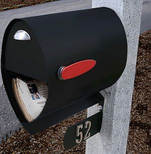 Spira Postbox Unique Post Mount Mailbox - Black