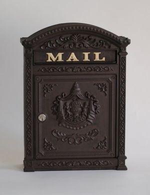 E6 Victorian Locking Wall Mount Mailbox