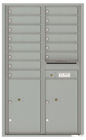 Front Loading USPS Mailbox - 14 Tenant Doors and 2 Parcel Lockers - Double Column