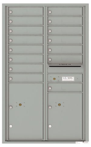Front Loading USPS Mailbox - 15 Tenant Doors and 2 Parcel Lockers - Double Column