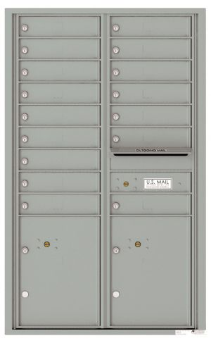 Front Loading USPS Mailbox - 16 Tenant Doors and 2 Parcel Lockers - Double Column