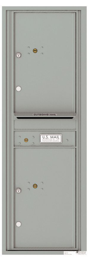 Front Loading Commercial Mailbox - 2 Parcel Lockers