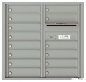Front Loading Commercial Mailbox with 14 Tenant Compartments