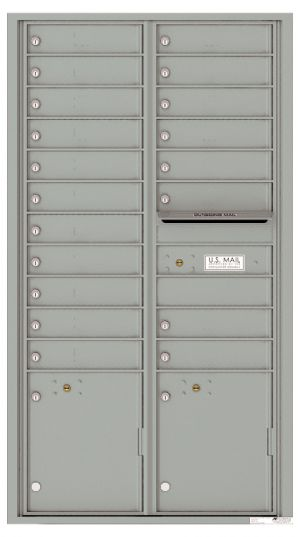 Front Loading USPS Mailbox with 19 Tenant Compartments and 2 Parcel Lockers - Versatile Double Column Mailbox