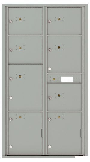 Front Loading USPS Mailbox with 8 Parcel Lockers