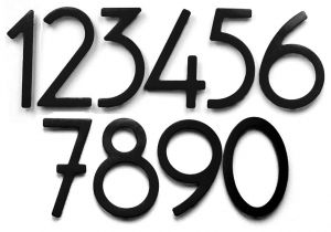 House Numbers and Letters Contemporary 5 Inch