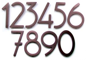 House Numbers and Letters Contemporary 8 Inch