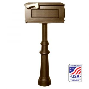 The Hanford SINGLE Lewiston mailbox post system with fluted base