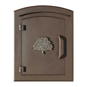 Manchester Non-Locking Column Mount Mailbox with Oak Tree Emblem