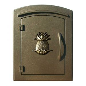 Manchester Non-Locking Column Mount Mailbox with Pineapple Emblem