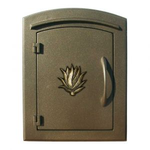 Manchester Non-Locking Column Mount Mailbox with Agave Emblem
