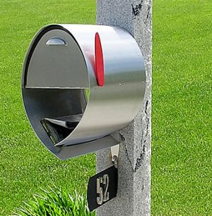 Spira Postbox Unique Post Mount Mailbox - Stainless Steel
