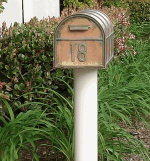 Streetscape mailbox and post standard