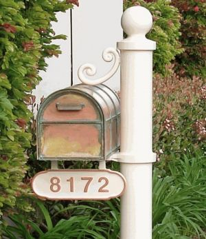 Streetscape mailbox and post deluxe with address plate